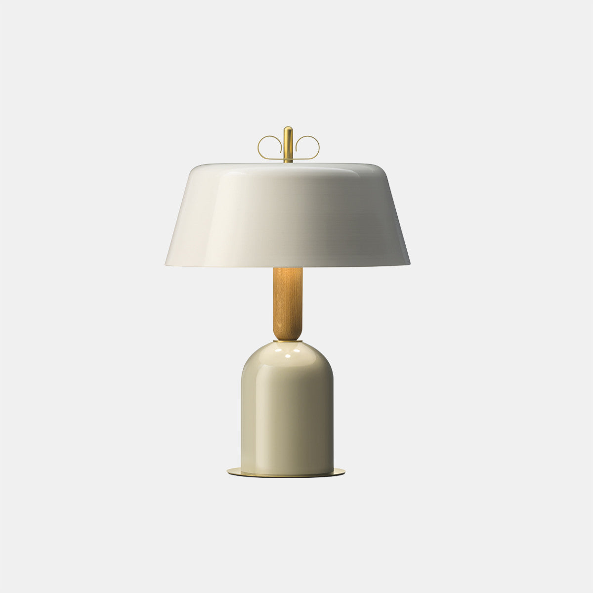 Bon Ton Grey/Natural Brass Table Lamp