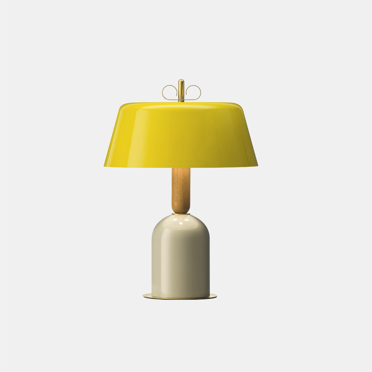 Bon Ton Yellow/Natural Brass Table Lamp