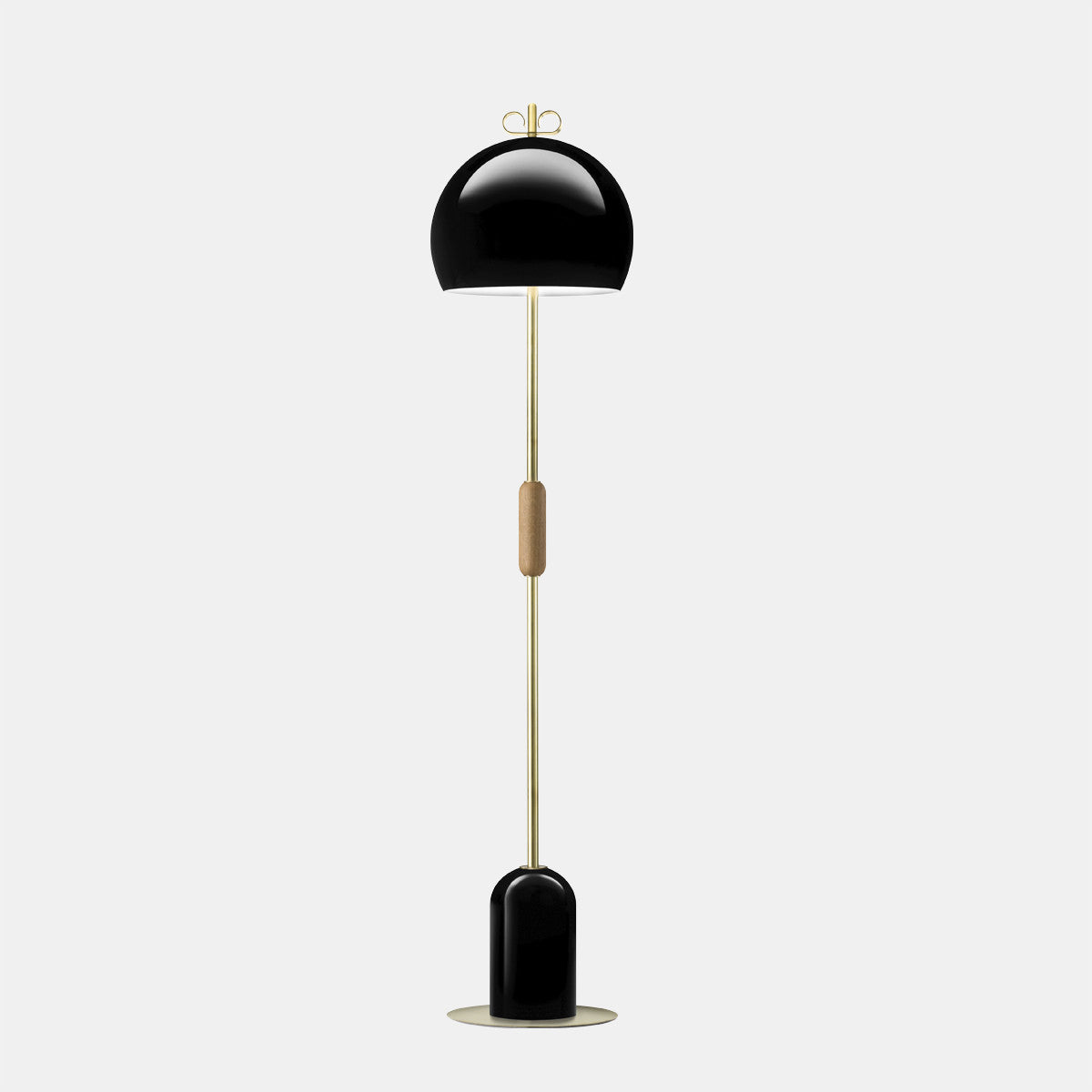 Bon Bon Black/Brass Floor Lamp
