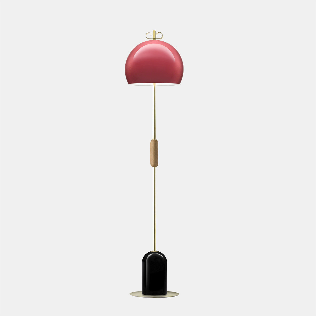 Bon Bon Antique Pink/Brass Floor Lamp