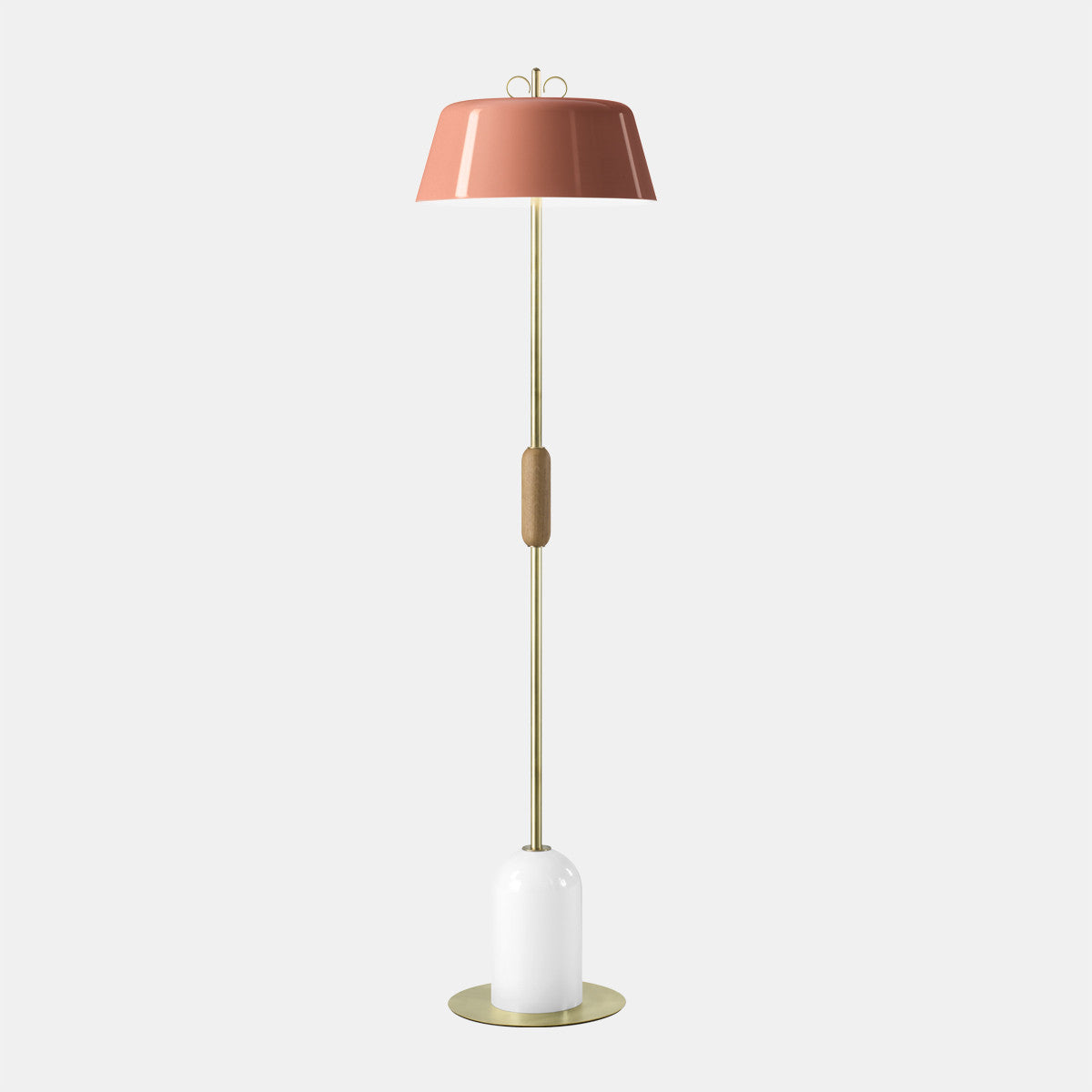 Bon Bon Pink/Brass Floor Lamp
