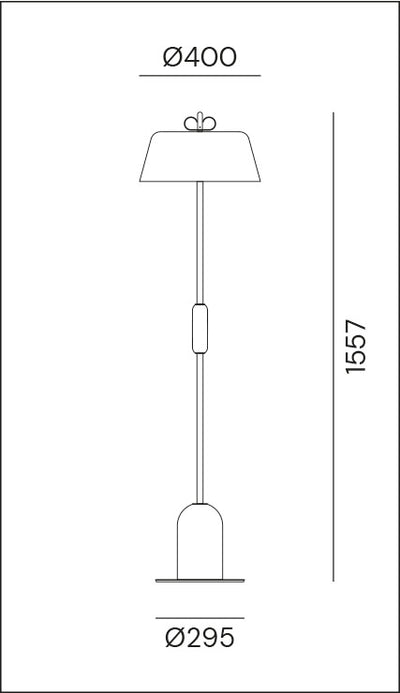 Bon Bon Grey/Brass Floor Lamp