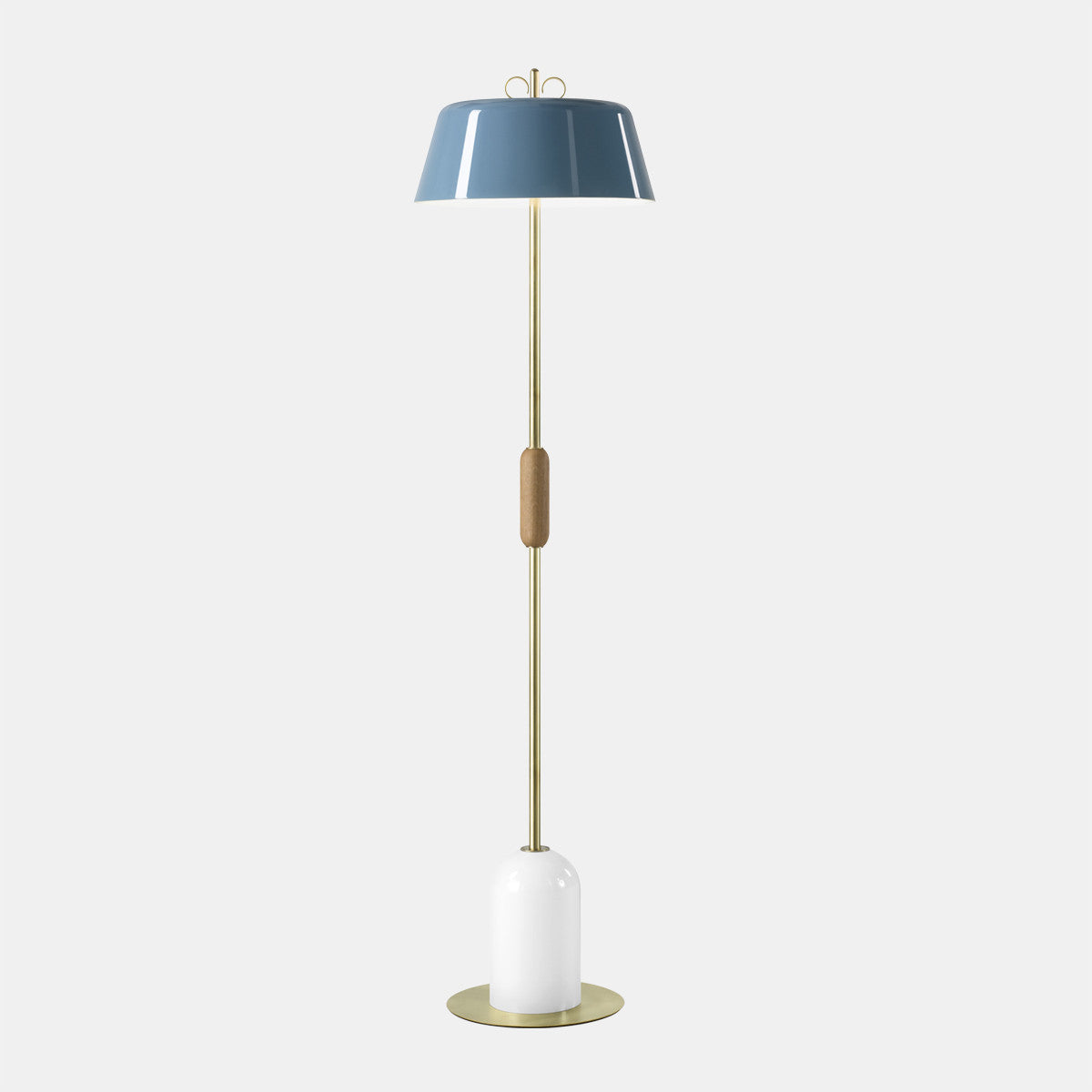 Bon Bon Light Blue/Brass Floor Lamp