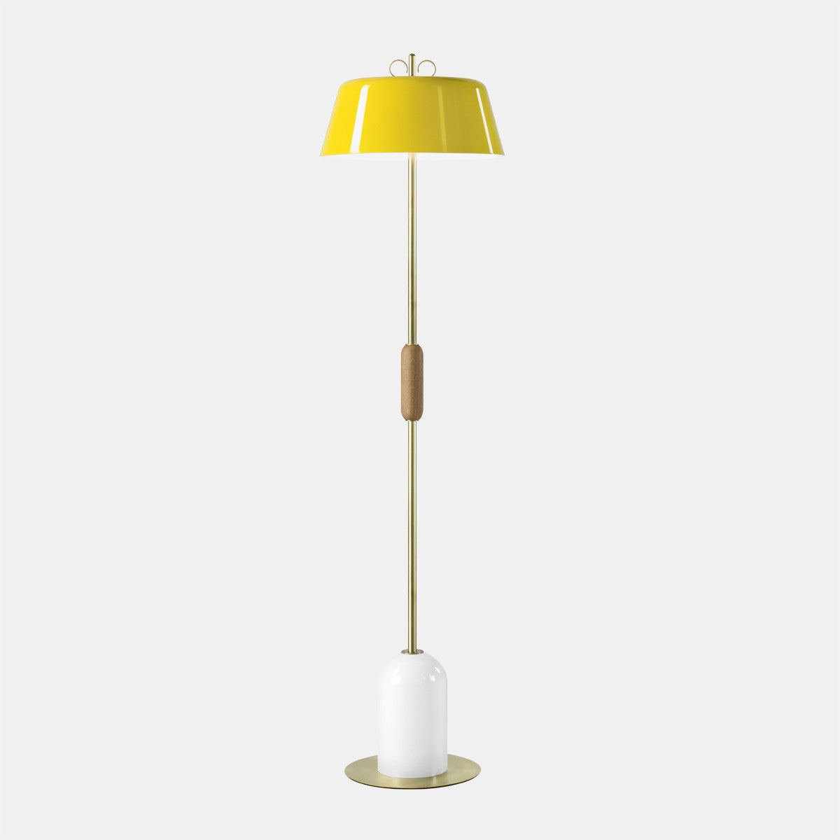 Bon Bon Yellow/Brass Floor Lamp
