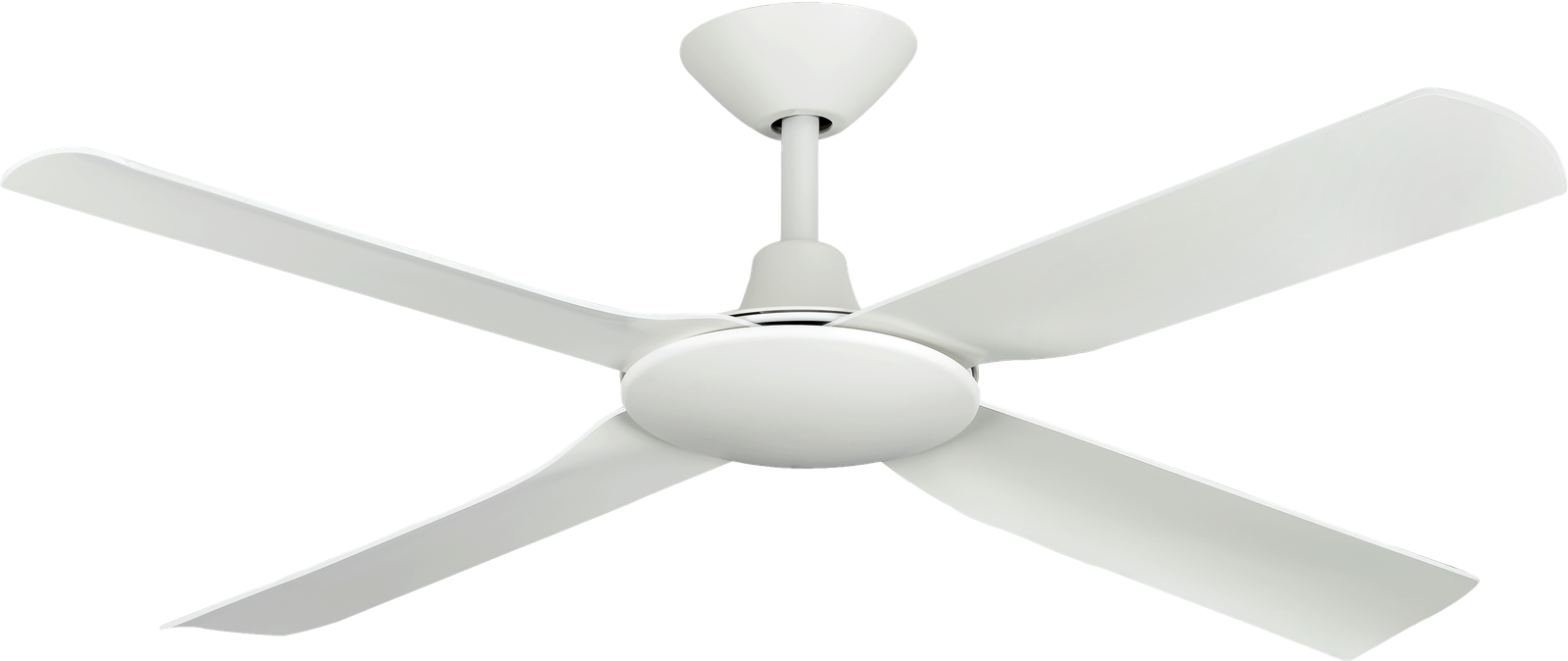 Next Creation White with White Blades Ceiling Fan