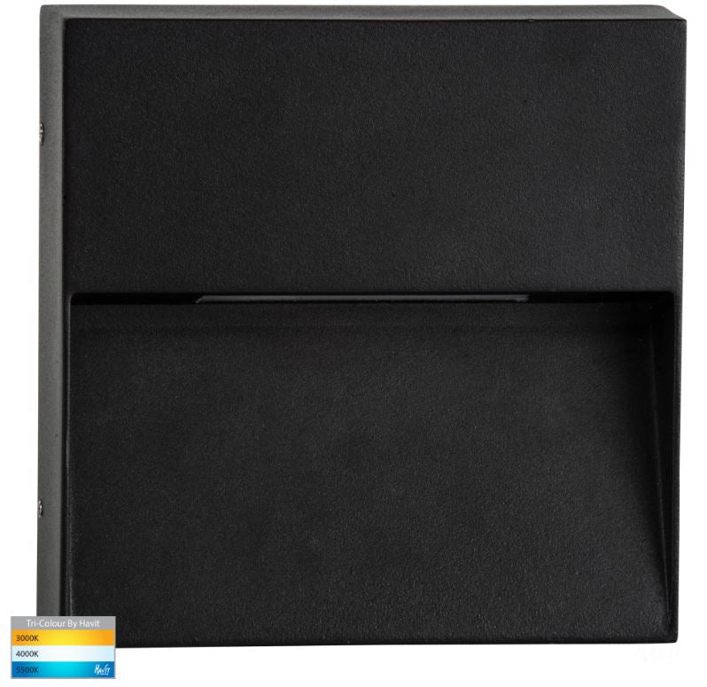 Virsma Black Square LED Step Light