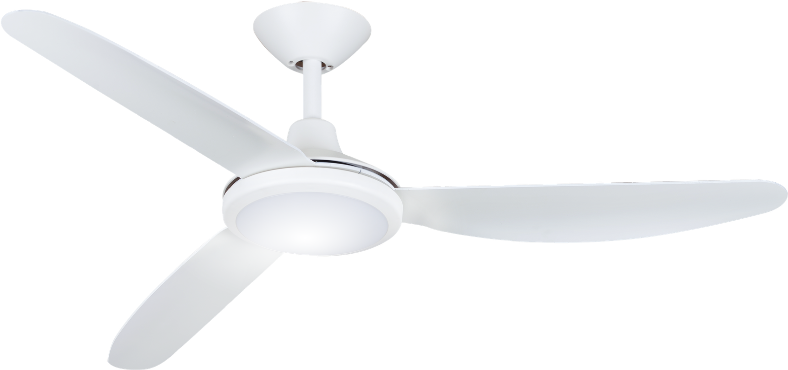 Polar DC White with Light Ceiling Fan