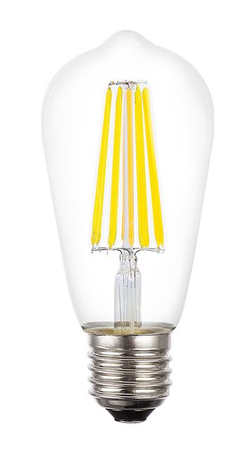 Filament 8W ES/E27 ST64 LED Dimmable Full Glass Lamp