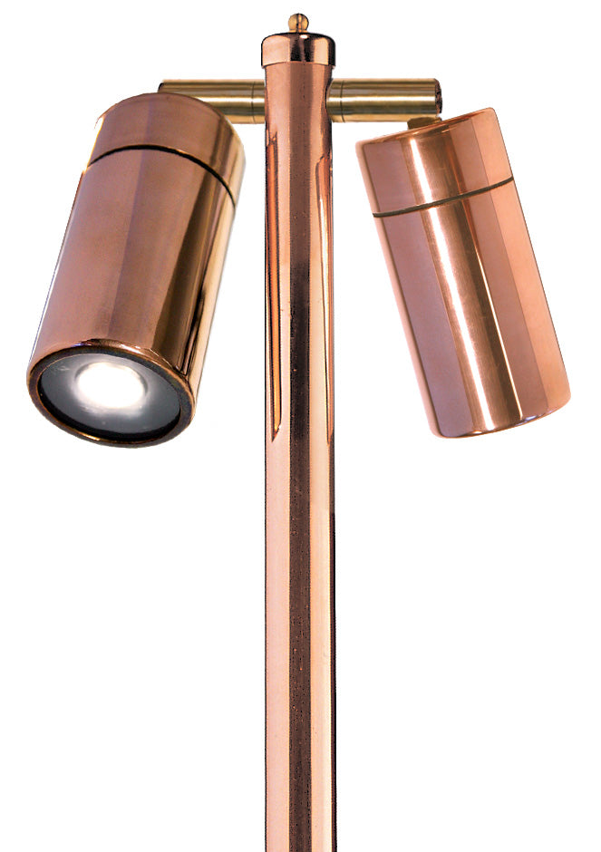 Grevillea LED GR2 Polished Copper Double Bollard