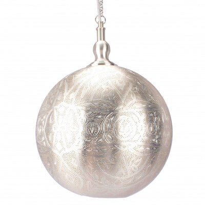 Rosemary Ball Ceiling Lamp 30cm Silver