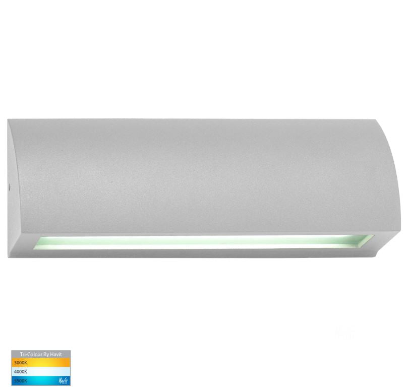 Taso 10w Silver TRI Colour LED Step Light