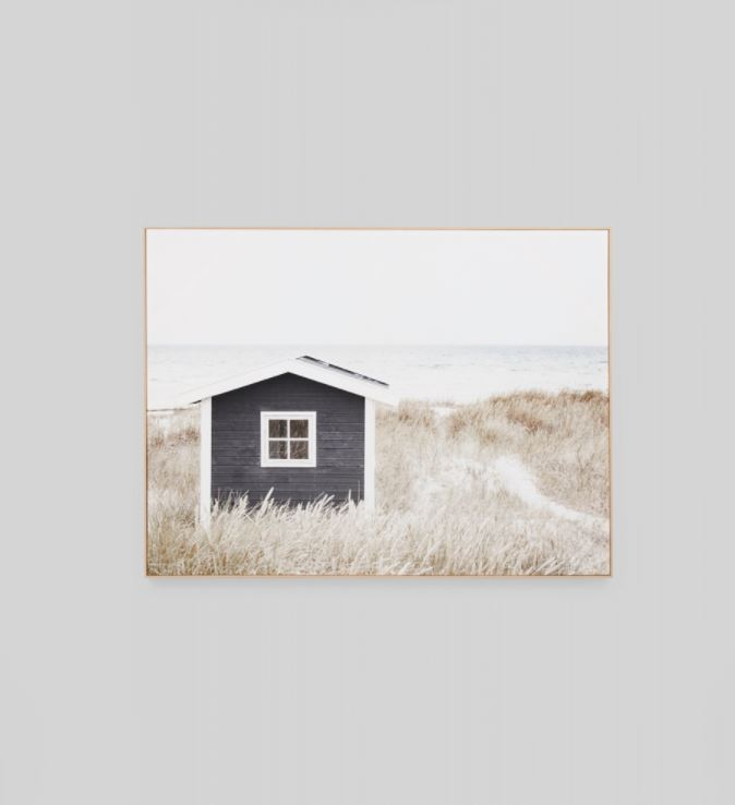Coastal Cottage Framed Canvas Wall Art