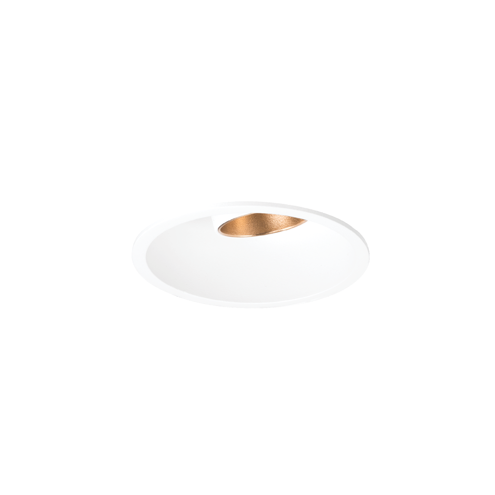 Shift In Textured White/Gold 2700K Downlight