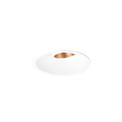 Shift In Textured White/Gold 3000K Downlight