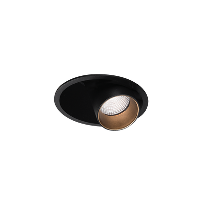 Shift Out Textured Black/Gold 3000K Downlight
