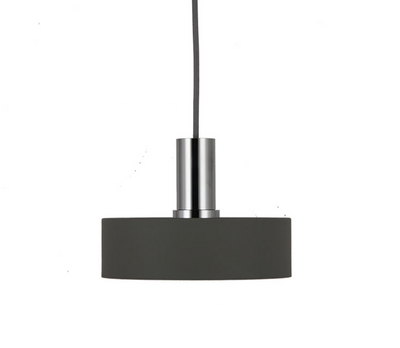 Saturn Small Textured Grey Chrome Pendant