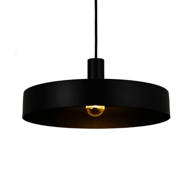 Saturn Large Textured Black Pendant with Colour Rings