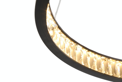 Margo Circular LED Pendant 60cm Granite