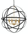 Apollo Large Black Gold Contemporary Sphere Pendant