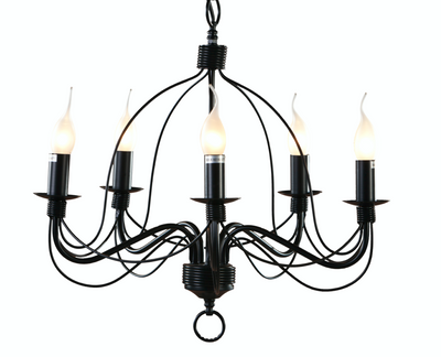 Candice Medium Black Candelabra