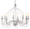 Candice Large French White Candelabra