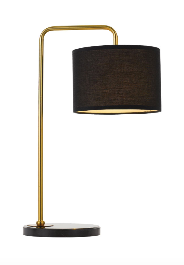 Ingrid Gold Black Table Lamp