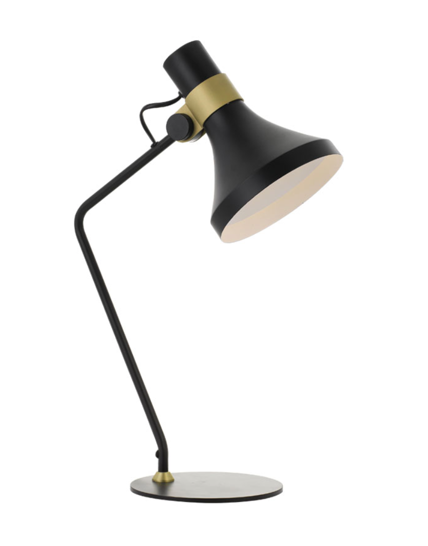 Roma Black Brass Table Lamp