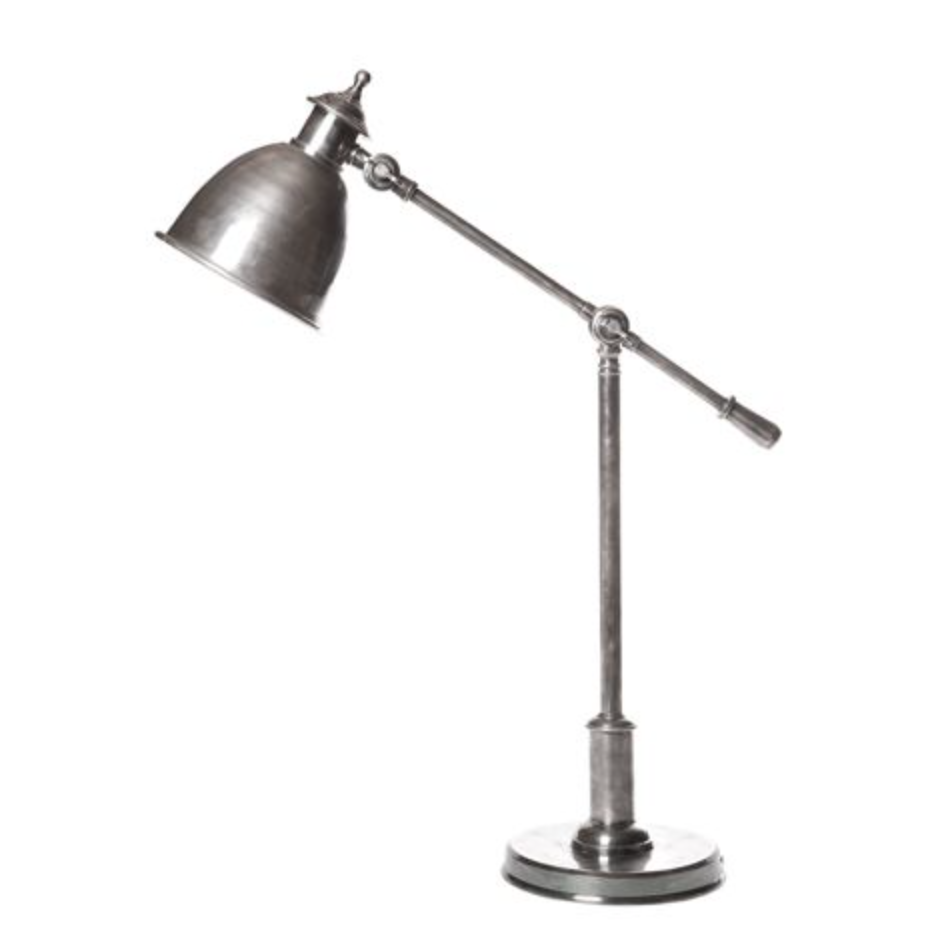 Bryde Antique Silver Desk Lamp