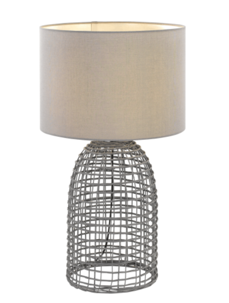 Bayz Grey Table Lamp