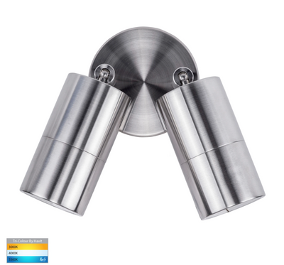 Tivah 316 Stainless Steel TRI Colour Double Adjustable Wall Spot Light