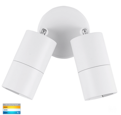 Tivah White TRI Colour Double Adjustable Wall Spot Light
