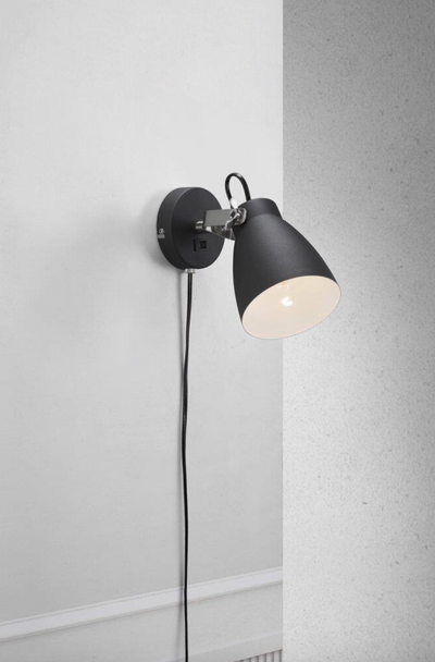 Largo Black Wall Light