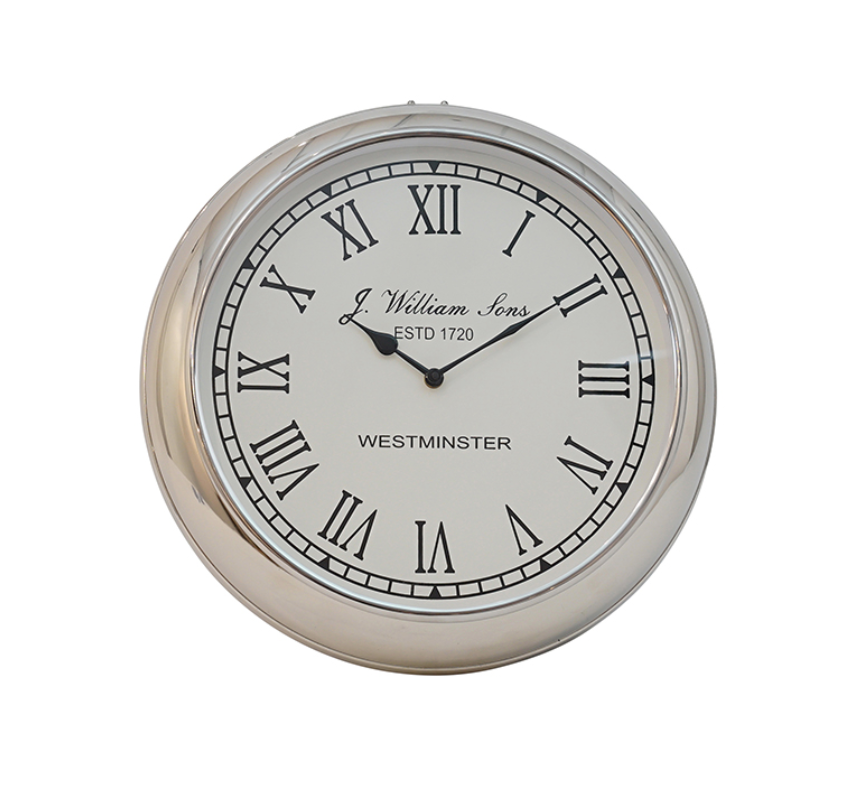 Harford Silver Westminster Wall Clock