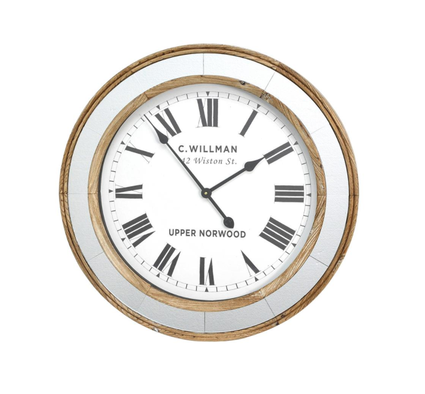 Riggs Timber & Mirror William Clock