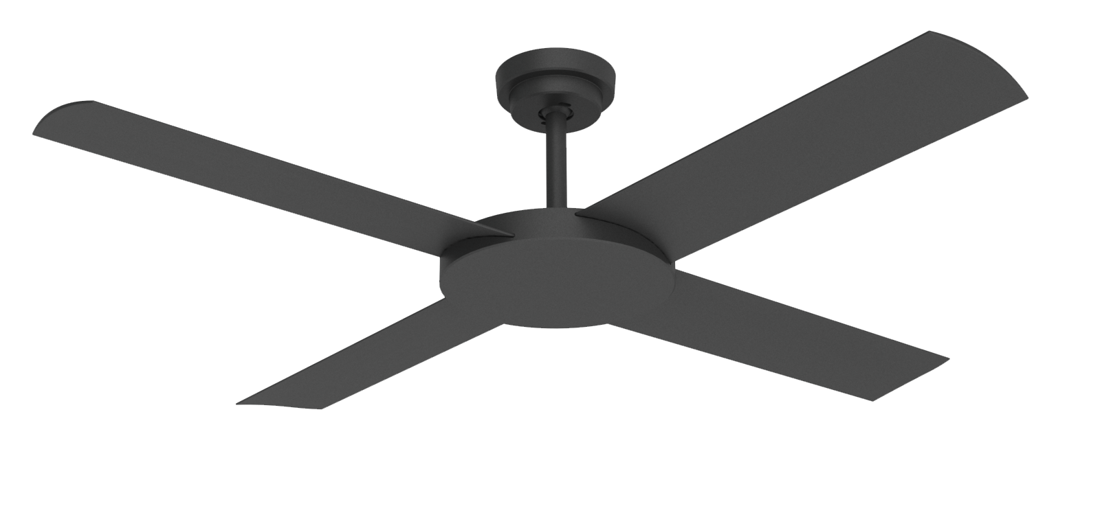 "Revolution 3 Black 52"" Indoor/Outdoor Ceiling Fan with Wall Control"