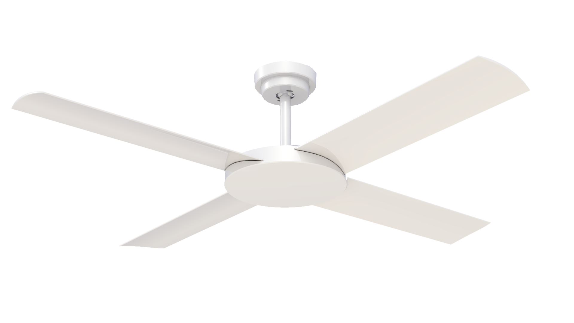 "Revolution 3 White 52"" Indoor/Outdoor Ceiling Fan with Wall Control"