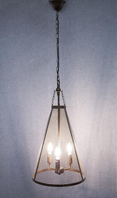 Throne Hanging Lamp in Bronze
