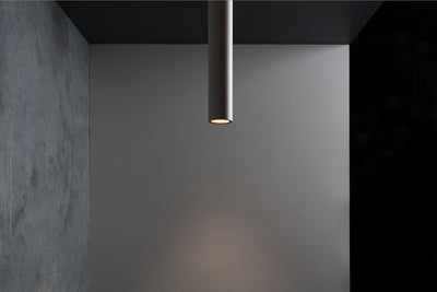 Titanium 400mm 5W Textured White/Black Suspended Starlight