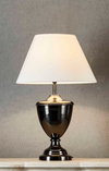Urn Black Brass Table Lamp