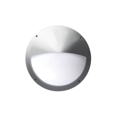 Vega Silver Eyelid Outdoor Light