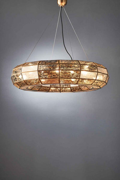 Vally Large Hanging Lamp in Brass