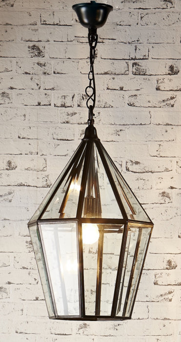 Warford Glass Lantern Black