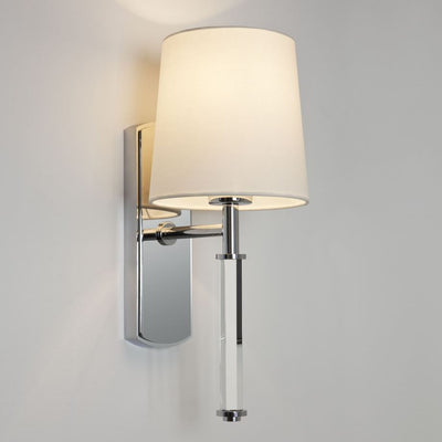 Delphi Single Polished Chrome Wall Light