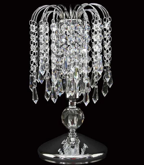 Reign Crystal Chrome Table Lamp