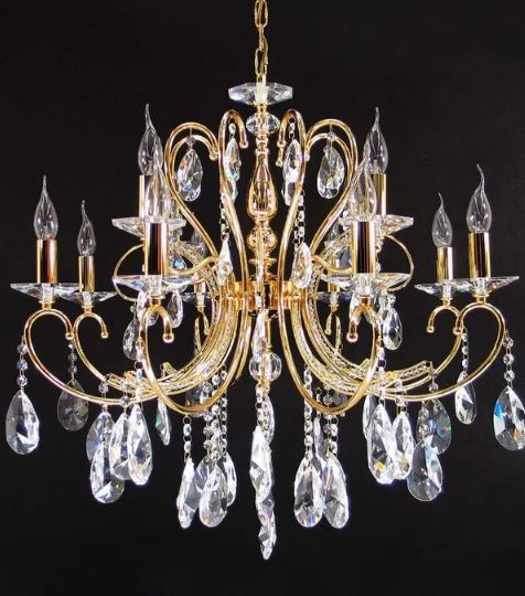 Dakota Gold 12 Light Chandelier