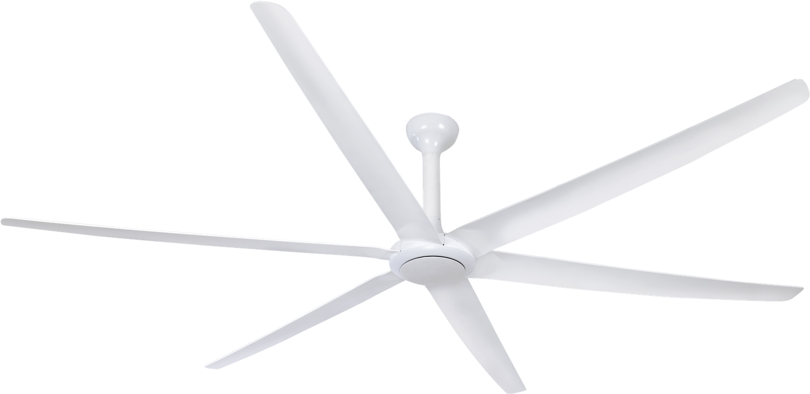 The Big Fan White with White Blades Ceiling Fan