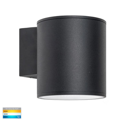 Porter 15w LED Black Large Fixed Down Wall Light