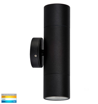 Tivah Black TRI Colour Up & Down Wall Light