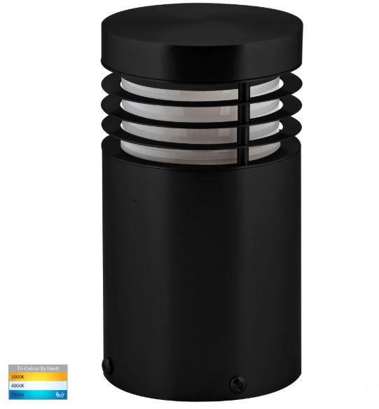 Mini Black TRI Colour LED Bollard Light