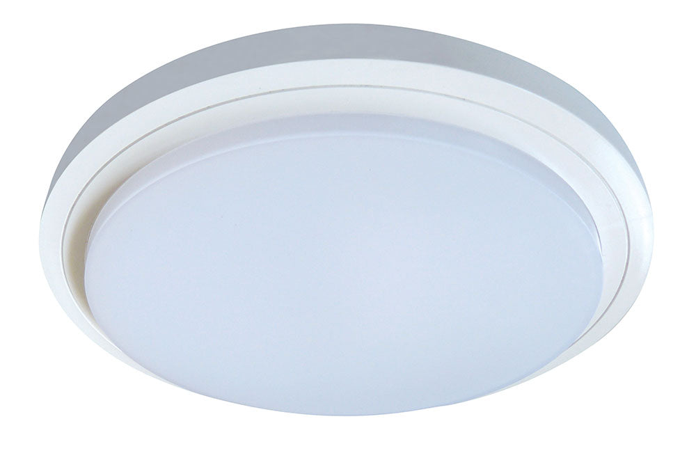 Button 28W Tri Colour Oyster Ceiling Light